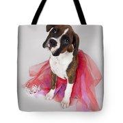 Portrait Of Dog Wearing Tutu Tote Bag