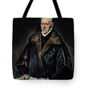 Portrait Of Dr. Francisco De Pisa Tote Bag