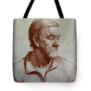 Portrait Of Elderly Man Tote Bag