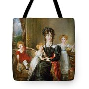 Portrait Of Elizabeth Lea And Her Children Tote Bag by John Constable