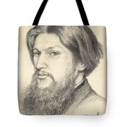 Portrait Of Ford Madox Brown Tote Bag