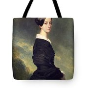 Portrait Of Francisca Caroline De Braganca Tote Bag by Franz Xaver Winterhalter