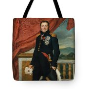 Portrait Of French Politician And Soldier Etienne Maurice Gerard Tote Bag