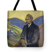 Portrait Of Friedrich Nietzsche Tote Bag