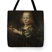 Portrait Of Geertruyt Spiegel With A Finch Tote Bag