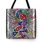 Portrait Of Giggling Colors Tote Bag