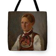 Portrait Of Gunild Olsdatter From Tinn Tote Bag