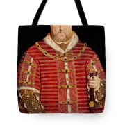 Portrait Of Henry Viii Tote Bag by Hans Holbein the Younger