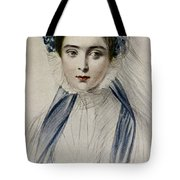 Portrait Of Her Majesty Queen Victoria As A Young Woman By Emile Desmaisons Tote Bag