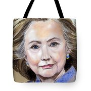 Pastel Portrait Of Hillary Clinton Tote Bag