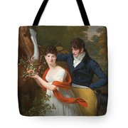 Portrait Of Jean-louis Gustave D'hautefort And His Sister Marie-therese-thais D'hautefort Tote Bag