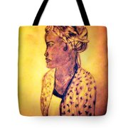 Portrait Of Lovely African Woman Tote Bag