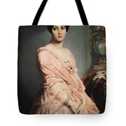 Portrait Of Madame F Tote Bag by Edouard Louis Dubufe
