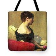 Portrait Of Madame Maitre Tote Bag by Ignace Henri Jean Fantin Latour