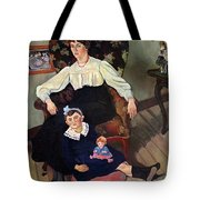 Portrait Of Marie Coca And Her Daughter Tote Bag by Marie Clementine Valadon