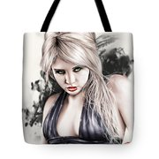 Portrait Of Miss Mosh Tote Bag by Pete Tapang