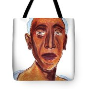 Portrait Of Old Man Tote Bag