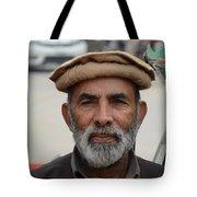 Portrait Of Pathan Tuk Tuk Rickshaw Driver Peshawar Pakistan Tote Bag