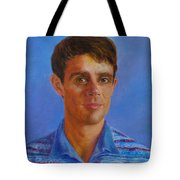 Portrait Of Canadian Operatic Tenor Paul Ouellette  Tote Bag