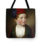Portrait Of Prince Victor Odescalchi  In Greek Costume At The Age Of Five Tote Bag