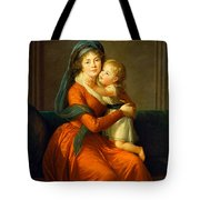 Portrait Of Princess Alexandra Golitsyna And Her Son Piotr Tote Bag