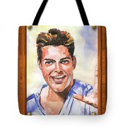 Portrait Of Ricky Martin Tote Bag