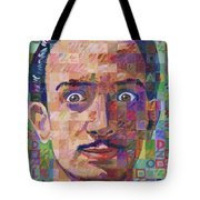 Portrait Of Salvador Dali Tote Bag