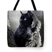 Portrait Of Smoky  Tote Bag