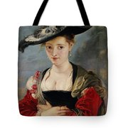 Portrait Of Susanna Lunden Tote Bag by Peter Paul Rubens