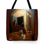 Portrait Of The Artist Tote Bag by J Reynolds Dail