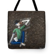 Portrait Of The Crazy Poet Tote Bag
