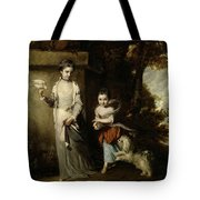 Portrait Of The Ladies Amabel And Mary Jemima Yorke Tote Bag