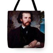 Portrait Of The Singer Karl Wallenreiter Tote Bag