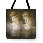 Portrait Of Two Ladies Tote Bag