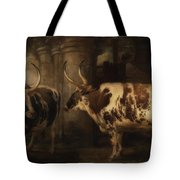 Portrait Of Two Oxen - The Property Of The Earl Of Powis Tote Bag