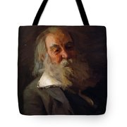 Portrait Of Walt Whitman 1887 Tote Bag