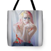 Portrait Of Young Lady Tote Bag