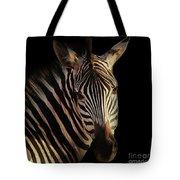 Portrait Of Zebra Tote Bag