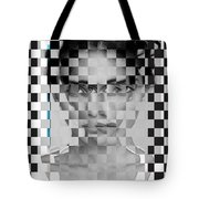 Portrait Visually Unstable Tote Bag