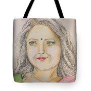 Portrait With Colorpencils 2 Tote Bag
