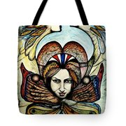 Portrait With Nature # 4 Tote Bag