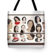 Portraits Of Lovely Asian Women  Tote Bag