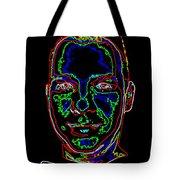 Portrait 09 On Black Tote Bag
