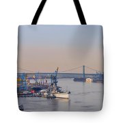 Ports Of Camden And Philadelphia Tote Bag