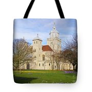 Portsmouth Cathedral In Springtime Tote Bag
