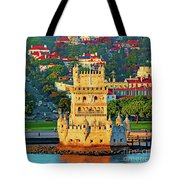 Lisbon Belem Tower From The River Tote Bag