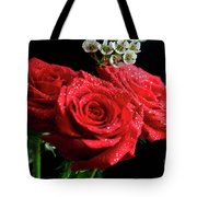 Posey Of Roses Tote Bag by Tracy Hall