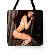 Posing For Him Tote Bag