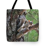 Posing Squirrel Tote Bag