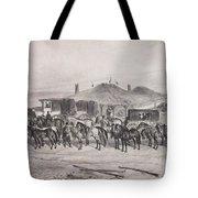 Post Horses Tote Bag